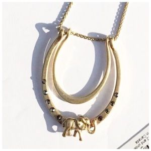 Lucky Brand Elephant Gold Tone Necklace